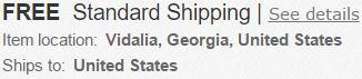 ebay szállítási ország