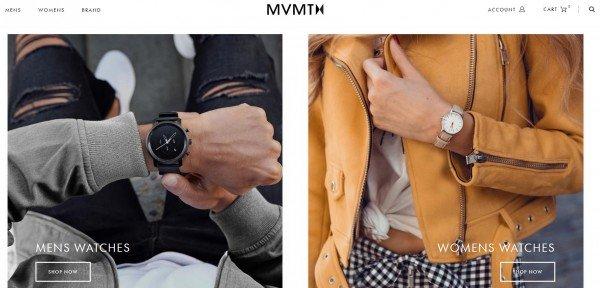MVMT nyitó oldala