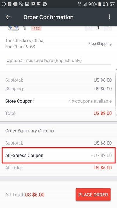 010a31cca6 Aliexpress kupon aktiválás · Aliexpress kupon kiválasztás