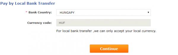 Gearbest banki átutalás