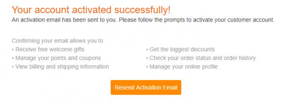 Gearbest sikeres regisztráció