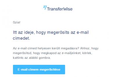 transferwise regisztráció